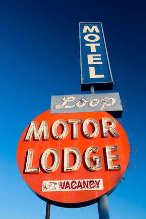 Vintage 1950s style Loop Motor Lodge, Ventura, California