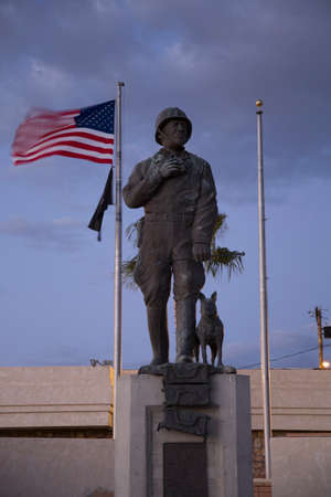 patton: George S. Patton Memorial Museum, Chiriaco Summit, Interstate 10, East of Indio, California, USA Editorial