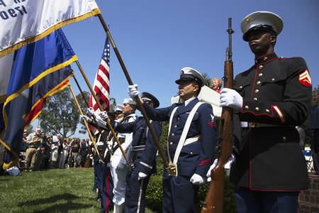 national military cemetery: Military Honor guard at Los Angeles National Cemetery Annual Memorial Event, May 26, 2014, California, USA Editorial