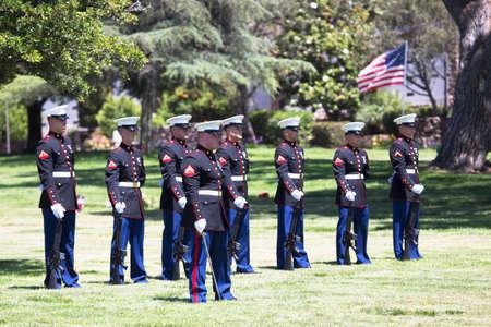 feier: Gedenkfeier für die gefallenen US-Soldaten