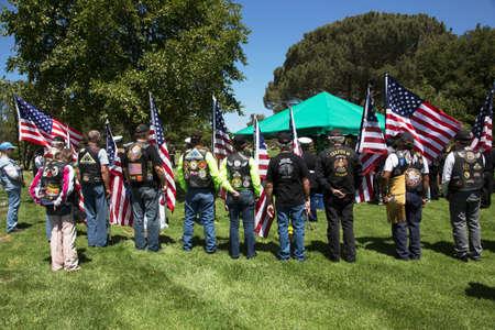 patriot: Patriot Guard Motorcyclists honor fallen US Soldier Editorial