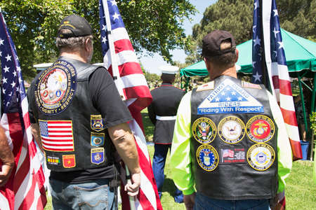 three people only: Patriot Guard Motorcyclists honor fallen US Soldier Editorial