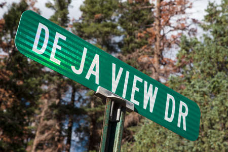 ouray: De Ja View Drive, a view road in Ouray, Colorado, USA Stock Photo