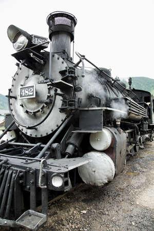narrow gauge railroad: Steam engine, Durango and Silverton Narrow Gauge Railroad, Silverton, Colorado, USA Stock Photo