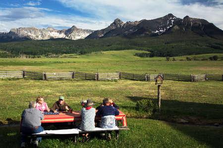 mesa: Family picnic, July 4, 2014, Hastings Mesa, Ridgway, Colorado, USA