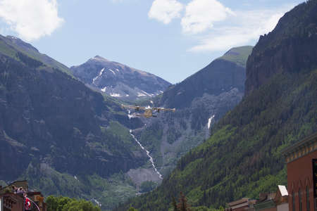 flyover: Flyover, July 4, Independence Day Parade, Telluride, Colorado, USA