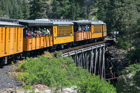 narrow gauge railroad: Durango and Silverton Narrow Gauge Railroad featuring Steam Engine Train ride, Colorado, USA