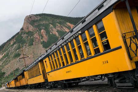 narrow gauge railroad: Durango and Silverton Narrow Gauge Railroad featuring Steam Engine Train ride, Durango, Colorado, USA