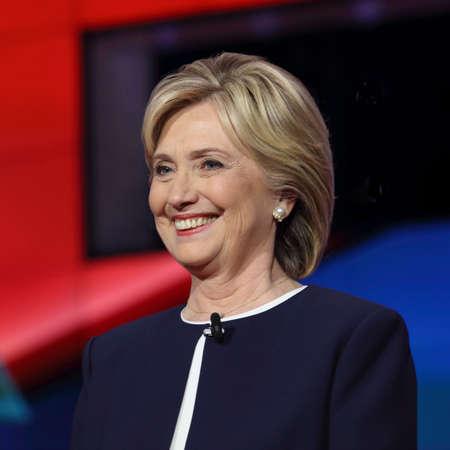 LAS VEGAS, NV - OCTOBER 13 2015: (L-R) Democratic presidential debate features candidate former Secretary of State and U.S. Senator Hillary Clinton at Wynn Las Vegas in first CNN Democratic Debate.