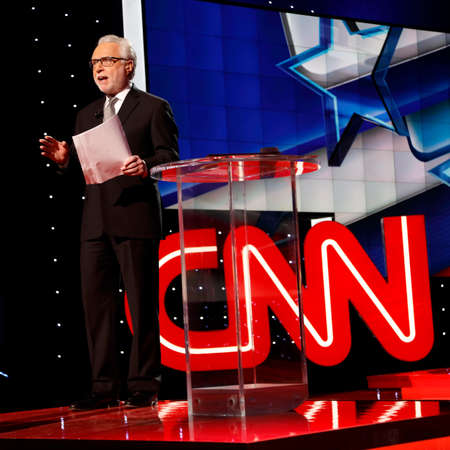 introduces: LAS VEGAS, NV, Dec 15, 2015, Wolf Blitzer introduces the CNN Republican presidential debate at The Venetian Resort and Casino, Las Vegas, NV Editorial