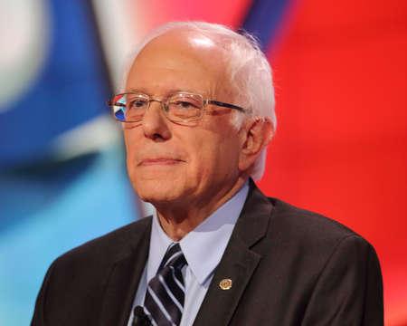 l first: LAS VEGAS, NV - OCTOBER 13 2015: (L-R) Democratic presidential debate features candidate U.S. Senator Bernie Sanders at Wynn Las Vegas in first CNN Democratic Debate.