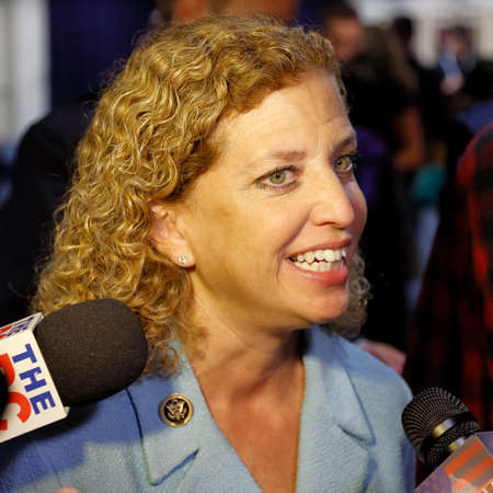 ronald reagan: REAGAN PRESIDENTIAL LIBRARY, SIMI VALLEY, LA, CA - SEPTEMBER 16, 2015 DNC Chair Debbie Wasserman Schultz interviewed during the presidential debates at the Reagan Library