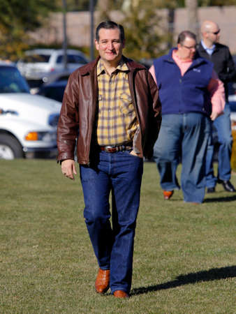 ted: LAS VEGAS, NEVADA, DECEMBER 17, 2015: Republican Presidential candidate Sen. Ted Cruz, R-Texas walks to his rally at Siena Community Ballroom, Las Vegas, NV Editorial