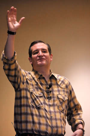 ted: LAS VEGAS, NEVADA, DECEMBER 17, 2015: Republican Presidential candidate Sen. Ted Cruz, R-Texas, speaks, points and waves during Presidential Nevada rally at Siena Community Ballroom, Las Vegas, NVelections, republican, candidate