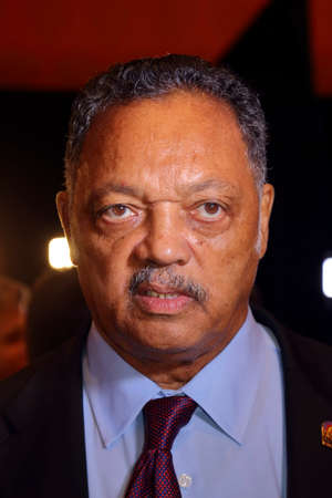 democratic: LAS VEGAS, NV - OCTOBER 13 2015: CNN Democratic presidential debate features political activist Jesse Jackson at Wynn Las Vegas in first CNN Democratic Debate.