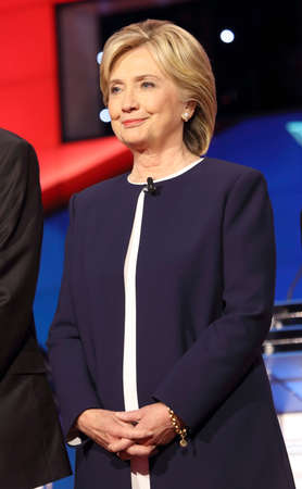 l first: LAS VEGAS, NV - OCTOBER 13 2015: (L-R) Democratic presidential debate features candidate former Secretary of State and U.S. Senator Hillary Clinton at Wynn Las Vegas in first CNN Democratic Debate.