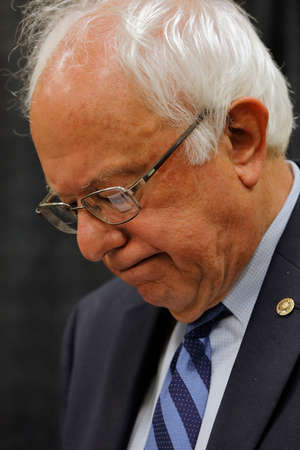 political and social issues: Senator Bernie Sanders - Modesto, CA Press Conference Editorial