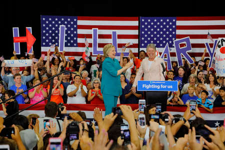 political rally: Hillary Clinton, 2016 United States Presidential Election, California, Democracy, Democratic Party - USA, Election, Former,  Oxnard, People, Photography, Political Rally, Politics, Politics and Government, Presidential Candidate, Secretary Of State, Talki