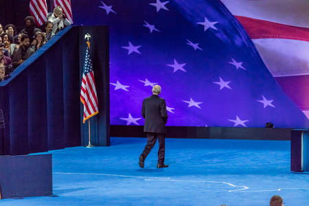NOVEMBER 8, 2016, Campaign Chairman for Hillary Clinton John Podesta walks away at Election Night at Jacob K. Javits Center - venue for Democratic presidential nominee Hillary Clinton election night event New York, New York. Editorial