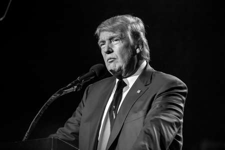 speaks: OCTOBER 15, 2016, EDISON, NJ - Donald Trump speaks at Edison New Jersey Hindu Indian-American rally for Humanity United Against Terror Editorial