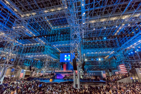 glass ceiling: NOVEMBER 8, 2016, Election Night at Jacob K. Javits Center - venue for Democratic presidential nominee Hillary Clinton election night event New York, New York - features Glass Ceiling