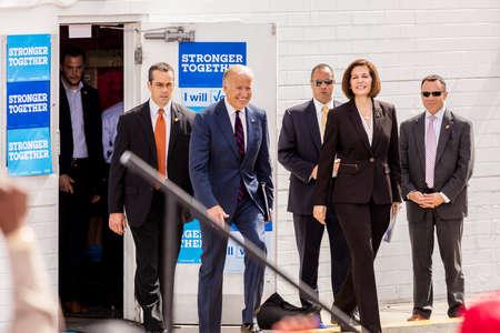 13. Oktober 2016: Vizepräsident Joe Biden kämpft für Nevada Democratic US Senat Kandidat Catherine Cortez Masto und Präsidentschaftskandidat Hillary Clinton an der kulinarischen Union, Las Vegas, NV