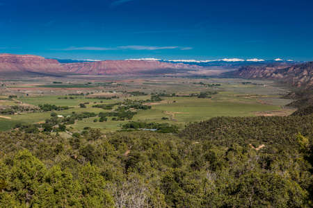 Panoramic View of Paradox Valley in Montrose, Colorado the Dolores River, on State Road 90 near the Utah border