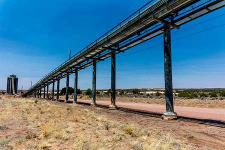 JULY 3, 2018, KAYENTE, ARIZONA., USA - Peabody Western Coal Company, Navajo Route 441, Kayente, Arizona