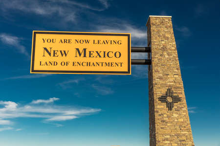 OCT 10, 2018, USA - Welcome to New Mexico State Sign