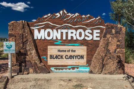 SEPT 18, 2018 - Montrose Colorado, USA - Welcome to Momtrose Colorado Home of Black Canyon