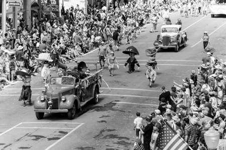 TELLURIDE, COLORADO, USA - July 4, 2018 - Annual  Independence Day Parade, Telluride, Colorado Colorado Avenue Publikacyjne