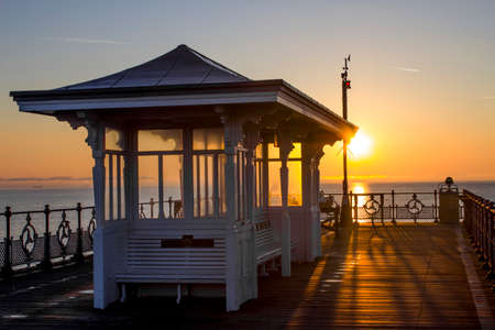 dorset: Pier and shelter in Swanage, Dorset Stock Photo