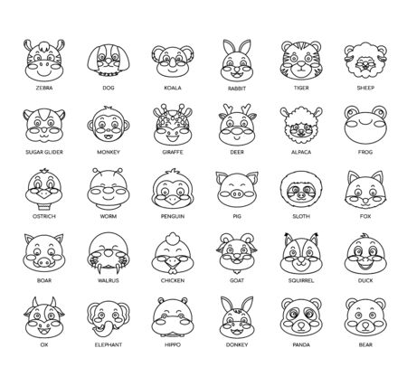 Animals  , Thin Line and Pixel Perfect Icons Illustration