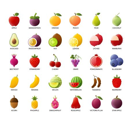 Fruits , Thin Line and Pixel Perfect Icons