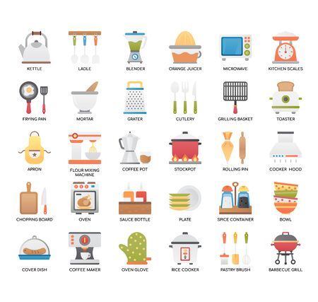 Kitchen Tools , Thin Line and Pixel Perfect Icons 向量圖像