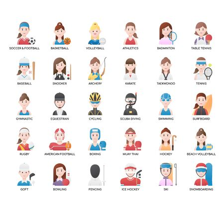 Female Sport , Thin Line and Pixel Perfect Icons Ilustracja