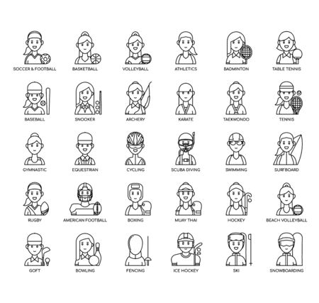 Female Sport , Thin Line and Pixel Perfect Icons Illustration