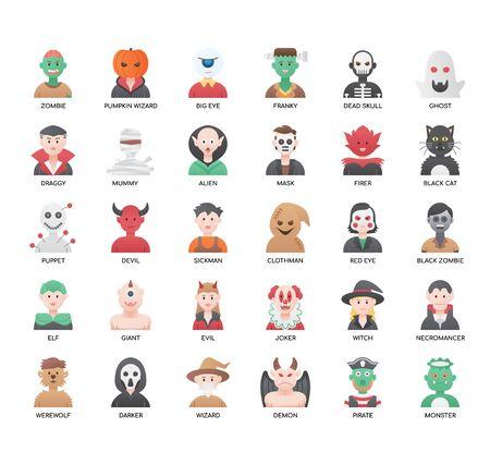 Set von Halloween-Dünnlinien- und Pixel-perfekten Symbolen für jedes Web- und App-Projekt.