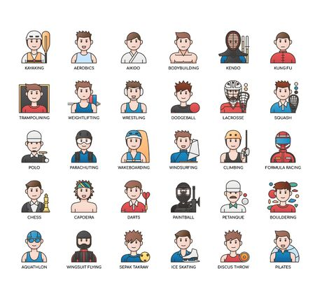 Sport man , Thin Line and Pixel Perfect Icons