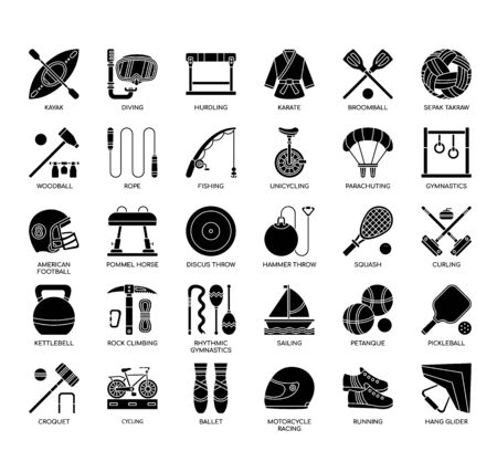 Sport Equipment, Thin Line and Pixel Perfect Icons