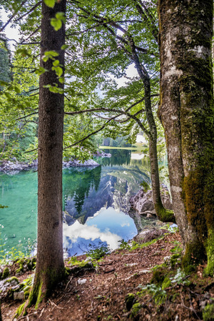 Alpine lake Laghi di Fusine