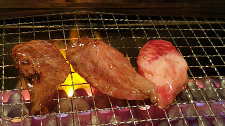 grill: Meat on grill