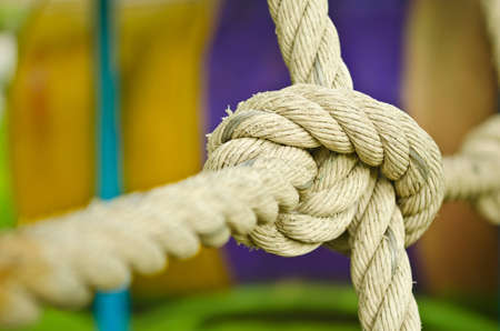 lashing: the rope knot Stock Photo