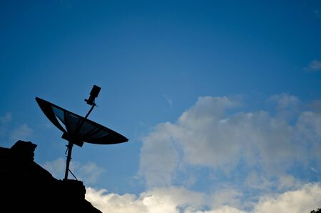 silhouette  of a Satellite dish Stock Photo - 11227855