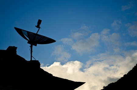 silhouette  of a Satellite dish Stock Photo - 11227851