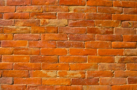 orange brick wall , nepal Stock Photo - 11353088