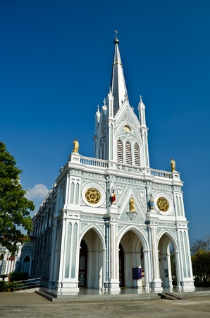 white church, Samut Songkhram, thailand photo