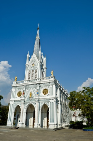 white church, Samut Songkhram, thailand photo
