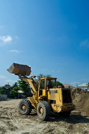 construction machinery  on blue sky photo