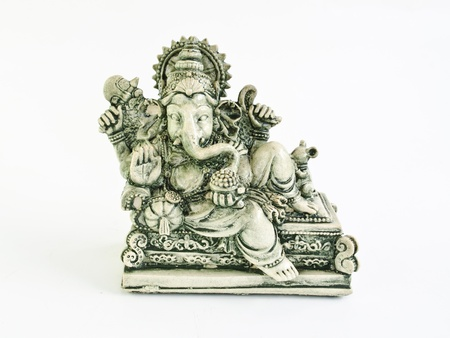 ganesh sculpture isolated on white background Stock Photo